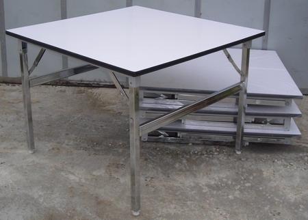 โต๊ะขาพับ โต๊ะประชุม Conference table โต๊ะหน้าขาว แบบเหลี่ยม หนา 25 มิล 3