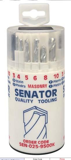 ดอกสว่านแบบชุด เจาะเหล็ก ไม้ และปูน (18 Piece Drill Set) Model  SEN-025