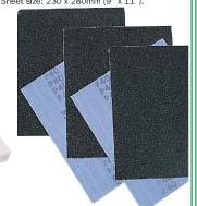กระดาษทราย Economy aluminium oxide cloth sheets model SEN-200
