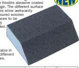 Abrasive coated sponges-Chamfered sanding block Model YRK-201
