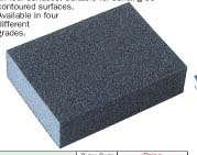 Abrasive coated sponges-Double sided blocks square end model YRK-201