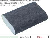 Abrasive coated sponges-Double sided blocks rounded end model YRK-201