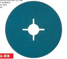 กระดาษทรายกลม Resin fibre backed sanding discs model YEK-202