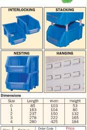 Plastic storage bins/MTL-404
