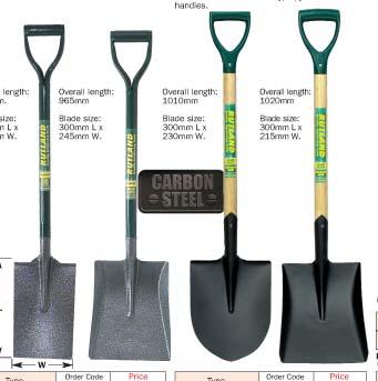 พลั่ว squareround mouthed shovels RTL-522