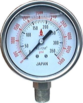 เกจ์น้ำมัน all stainless steel liquid filled gauges/OKU-209