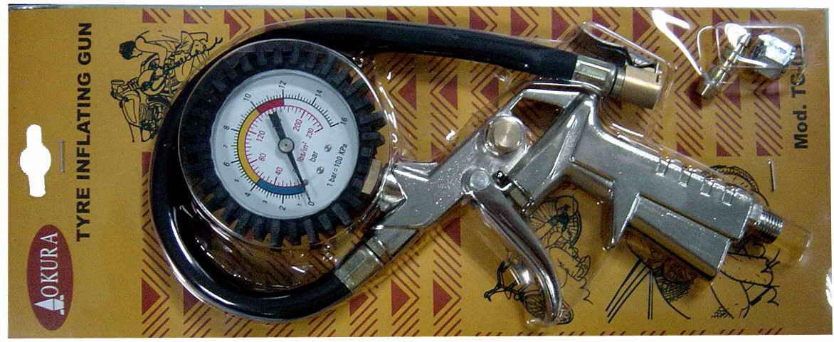 เกจ์วัดลม-เติมลม tire inflator gauge/OKU-160