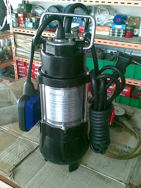 ปั้มน้ำ แบบปั๊มแช่ดูดโคลน สเตนเลส มีสวิทซ์ลูกลอย mitsu ขนาด 1.1/2quot; submersible sewage pump/V180F
