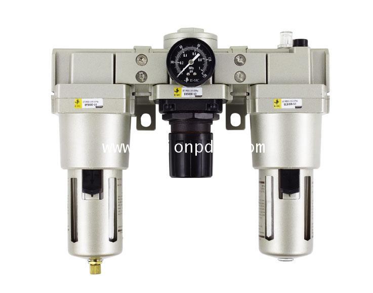 ชุดกรองลม ดักน้ำ แบ่งลม  Air Filter regulator oil lubricator (F.R.L)