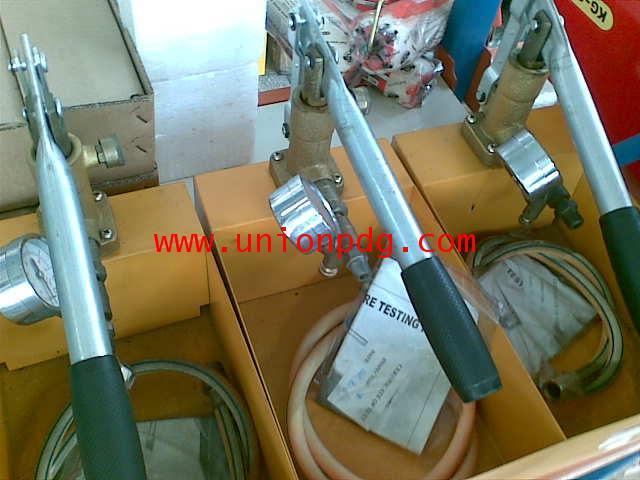 ปั๊มเทสท่อ ปั๊มทดสอบแรงดัน  Manual Pressure Testing Pumps