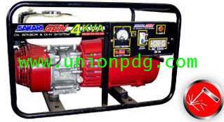 เครื่องปั่นไฟ เครื่องกำเนิดไฟฟ้า แบบมีระบบเชื่อมได้ ขนาด 4 KVA/HONDA GX200/ 3.2MM