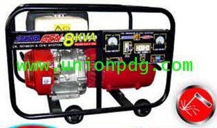 เครื่องปั่นไฟ เครื่องกำเนิดไฟฟ้า แบบมีระบบเชื่อมได้ ขนาด 8 KVA/HONDA GX390/ 5.0 MM