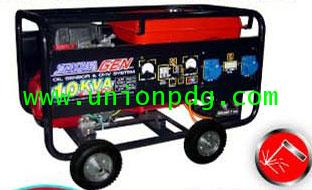 เครื่องปั่นไฟ เครื่องกำเนิดไฟฟ้า แบบมีระบบเชื่อมได้ ขนาด 10 KVA/HONDA GX620/ 7.0 MM