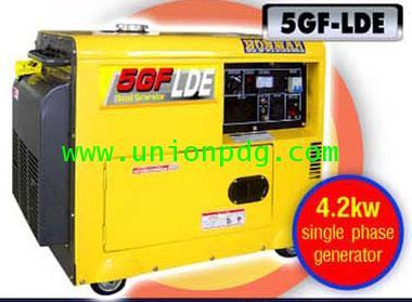 เครื่องปั่นไฟดีเซล เครื่องกำเนิดไฟฟ้าดีเซล 4.2 KW/5GF-LDE3 380V