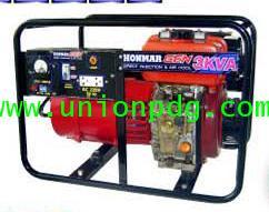 เครื่องปั่นไฟดีเซล เครื่องกำเนิดไฟฟ้าดีเซล 3KVA แบบเชื่อมได้ 3.2 mm / DH600 220 V
