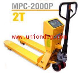 เครนลากของ รถยกลากพาเลท 2 ตัน มีชั่งน้ำหนัก /MPC-2000P