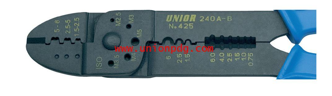 คีมย้ำหัวสายไฟ Crimping Pliers UNIOR/425