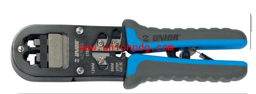 คีมย้ำสายแลนสายโทรศัพท์ RJ Crimp grip Pliers UNIOR/427/4DG