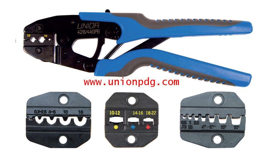 คีมย้ำหางปลาแบบเปลี่ยนหัวได้ Crimp grip Pliers UNIOR/428/4AGPB