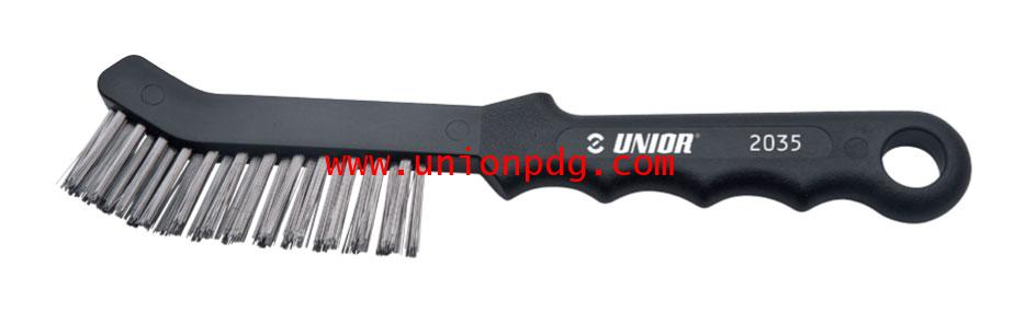 แปรงลวดขัดจานเบรค Brush for cleaning disk brake shoes UNIOR/2035