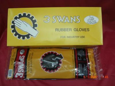 ถุงมือยางดำ 3swans(สามห่าน)รุ่น 141-รุ่น 142-รุ่น 162