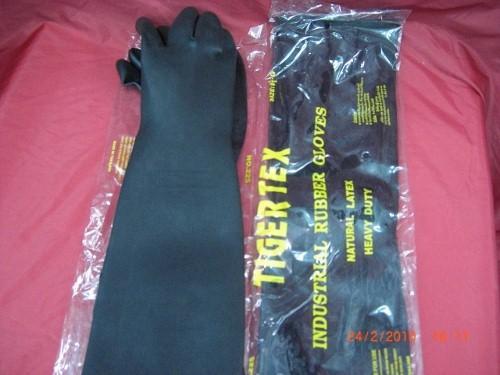 ถุงมือยางดำยาว18นิ้วและยาว25นิ้ว