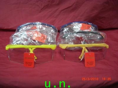 แว่นตาเซฟตี้กันสะเก็ดกันฝุ่น(คิ้วสีกระจกใส)