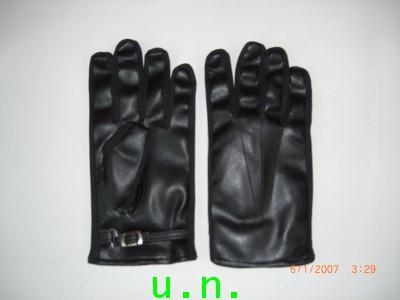 ถุงมือ(หนัง)9999ตองเก้า แบบเต็มนิ้ว มีเม็กกระดุมที่ปลายข้อมือ
