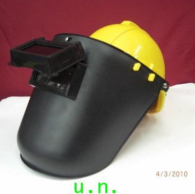 หน้ากากอ๊อกเชื่อมดำ แบบสวมหัวพร้อมสวมเข้ากับหมวกเซฟตี้(มอก)คู่กัน(ราคาไม่รวมหมวก)
