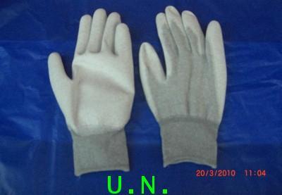 ถุงมือไนล่อนคาร์บอนเคลือบโพลียูรีเทน เต็มฝ่ามือ