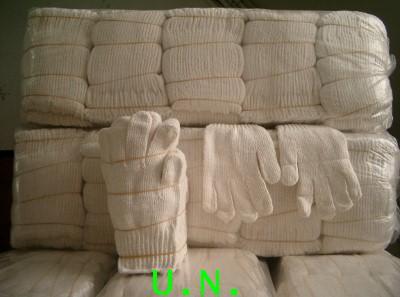 ถุงมือผ้าดิบแบบขาวล้วน(หนาสุดในบรรดาผ้าดิบ)