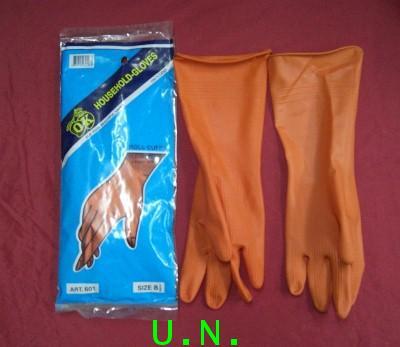 ถุงมือยางส้มOK(โอเค)