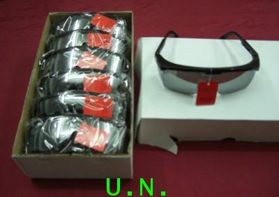 แว่นตาเซฟตี้กันสะเก็ดคิ้วดำ(เลนส์ปรอท)NO.287อย่างดี(เลนส์มีปีกข้าง ขาแว่นสามารถปรับระดับได้