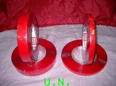 เทปโฟมใสอะคริลิค 2 หน้า(1/2นิ้ว และ 1 นิ้ว)ยาว 11 เมตร(เปลือกแดง เนื้อใส)