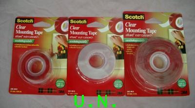 เทปกาวสองหน้าแบบใสชนิดแรงยึดติดสูงชนิดใส(3M)(Scotch Clear Mounting Tape)(CAT 4010)(แบบแผ่นCAT 40010)