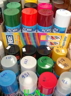 สีสเปรย์ โกเบ(KOBE)Acrylic Lacquer Spray สวยสด ทุกหยดสี