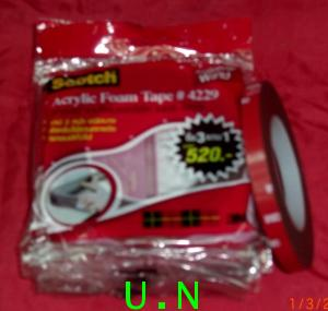 เทปโฟมดำอะคริลิค(3Mเบอร์4229) Acrylic Foam Tape4229(ม้วนใหญ่ กว้าง12มม ยาว10 เมตร),(ม้วนเล็กยาว 2.5ม