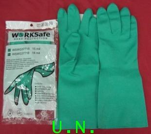 ถุงมือยางเขียวไนไตร(WORKSAFE)HAND PROTECTION (WSWG37718  18 mil)