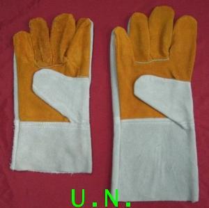 ถุงมือหนังท้องหน้าเหลืองแบบสั้น และ แบบยาว