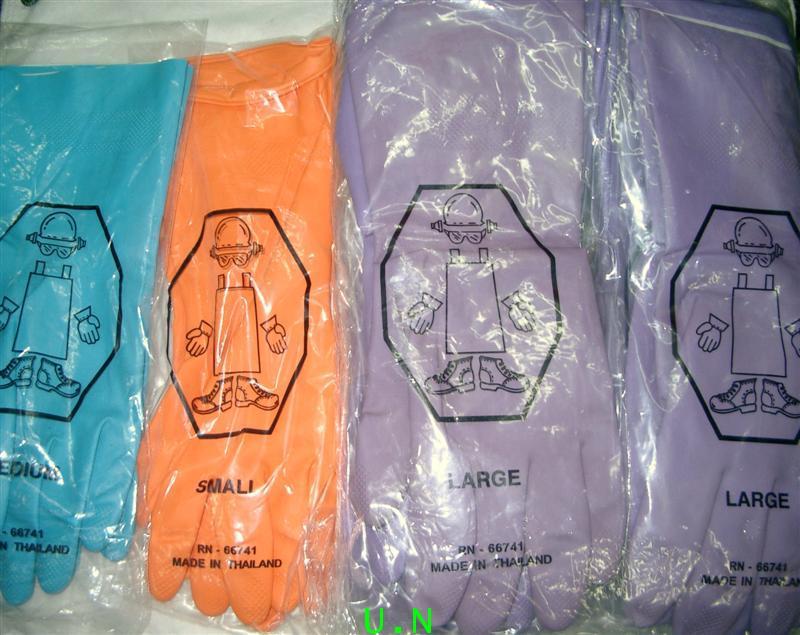 ถุงมือยาง (โปรโมชั่นจากโรงงาน)อย่างถูก ประหยัด คุณภาพดี เหมาะสม หลากสี ไม่มีกล่อง ยาว 12 นิ้ว