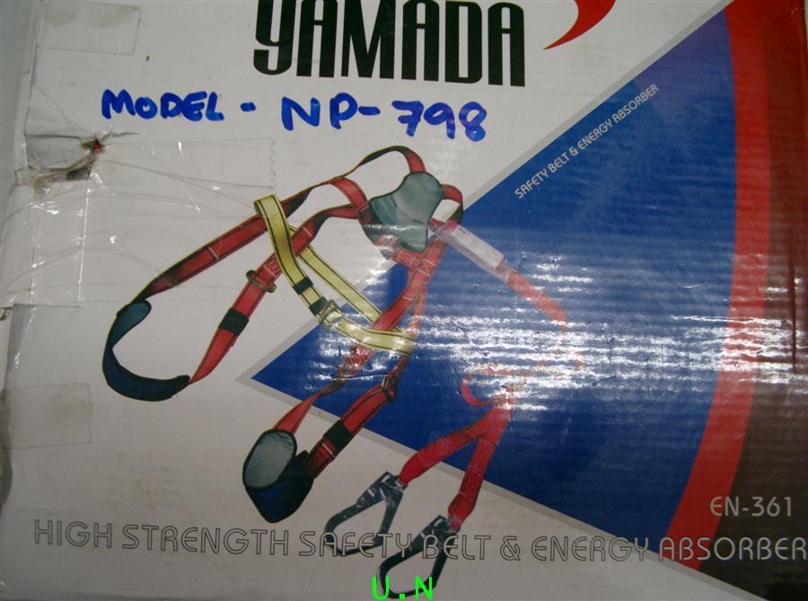 เข็มขัดเซฟตี้เต็มตัว 2 ตะขอใหญ่ มีที่รองน่องขา มีตัวลดการตกกระแทก(ยามาดะYAMADA)(รุ่น797ผสม798)