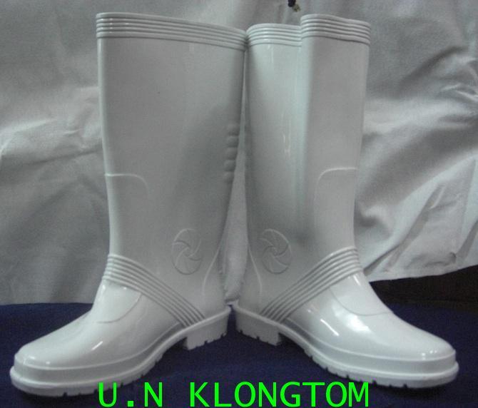 รองเท้าบู๊ทยางขาวล้วน(BLยาว14นิ้ว)