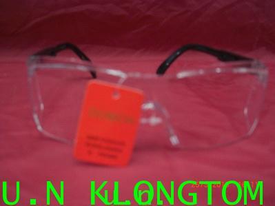 แว่นตาเซฟตี้NO.733อย่างดีแบบไม่มีคิ้ว(เลนส์ใสล้วน)