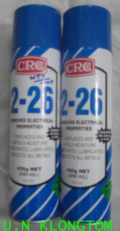 CRC 2-26 น้ำยาฉีดไล่ความชื้น ทำความสะอาด และป้องกันการกัดกร่อนสำหรับอุปกรณ์ไฟฟ้า