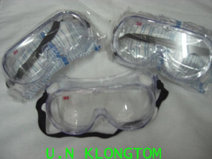 แว่นครอบตานิรภัย 3M1621 กันสาร กันฝุ่น ป้องกันการเกิดฝ้า