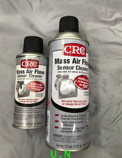 CRC สเปรย์ทำความสะอาดเซ็นเซอร์ไอดี MASS AIR FLOW SENSOR CLEANER(312g)และ(138g)