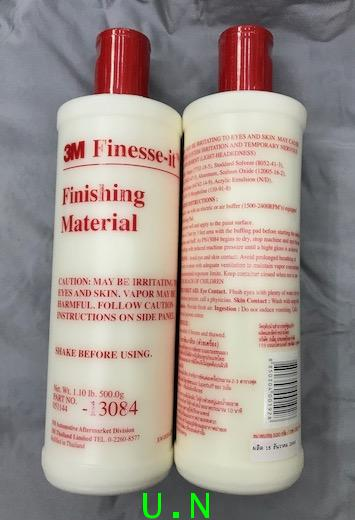 3M Finesse-it Finishing Material PN 13084 น้ำยาขัดลบรอยและขัดเงาสีรถ (ด้วยเครื่อง)(500g)