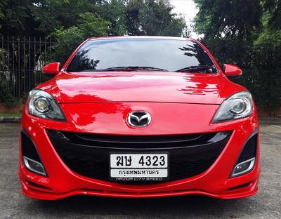 2011 จด 2013 MAZDA 3 2.0 AUTO TOP SUNROOF สีแดงสด