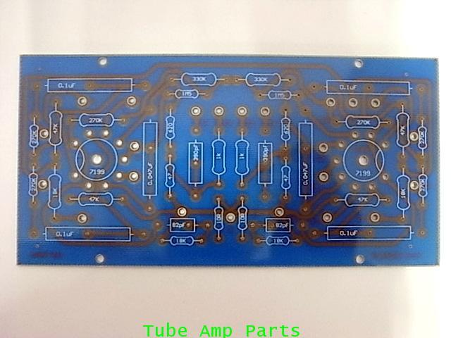 แผ่น PCB ภาคไดร์เวอร์สำหรับ Dynaco ST70 (7199 Version)