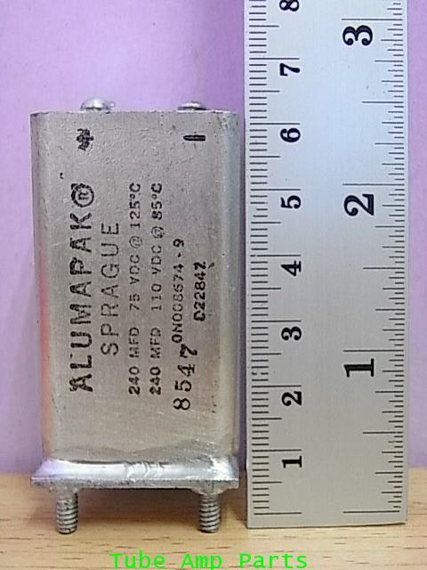 Sprague ALUMAPAK 240mfd 110V 1